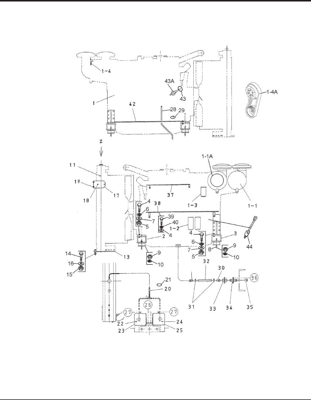 Page 66 dca800ssk2 60 hz generator operation and parts manual rev 0 09 03 09 engine assy