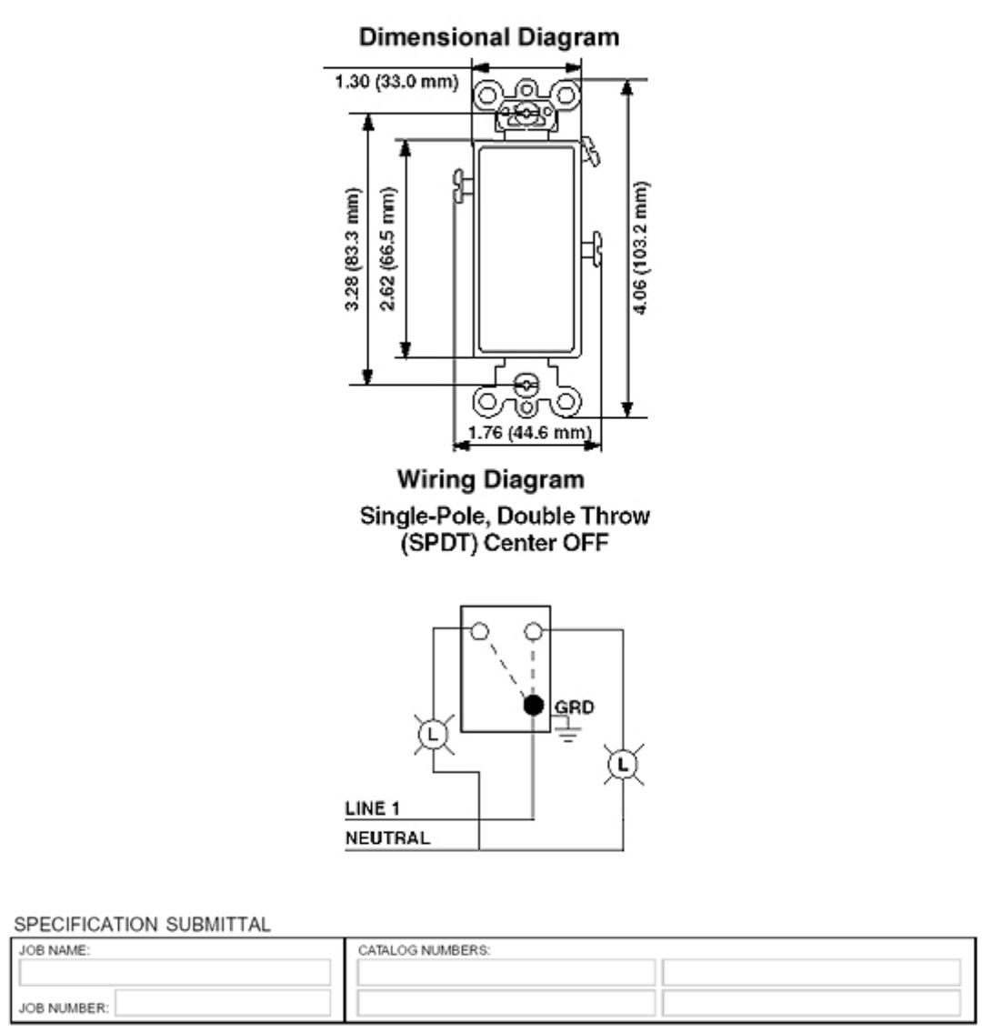 Leviton Decora Single Pole Switch Wiring Diagram