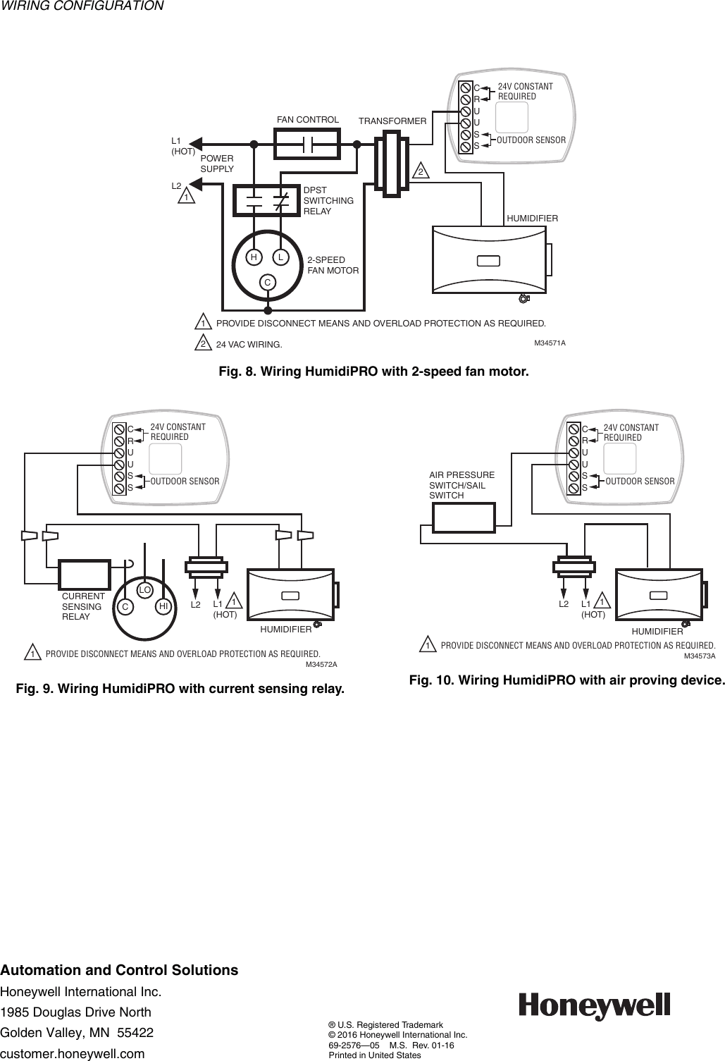 Honeywell Humidifier Wiring Diagram
