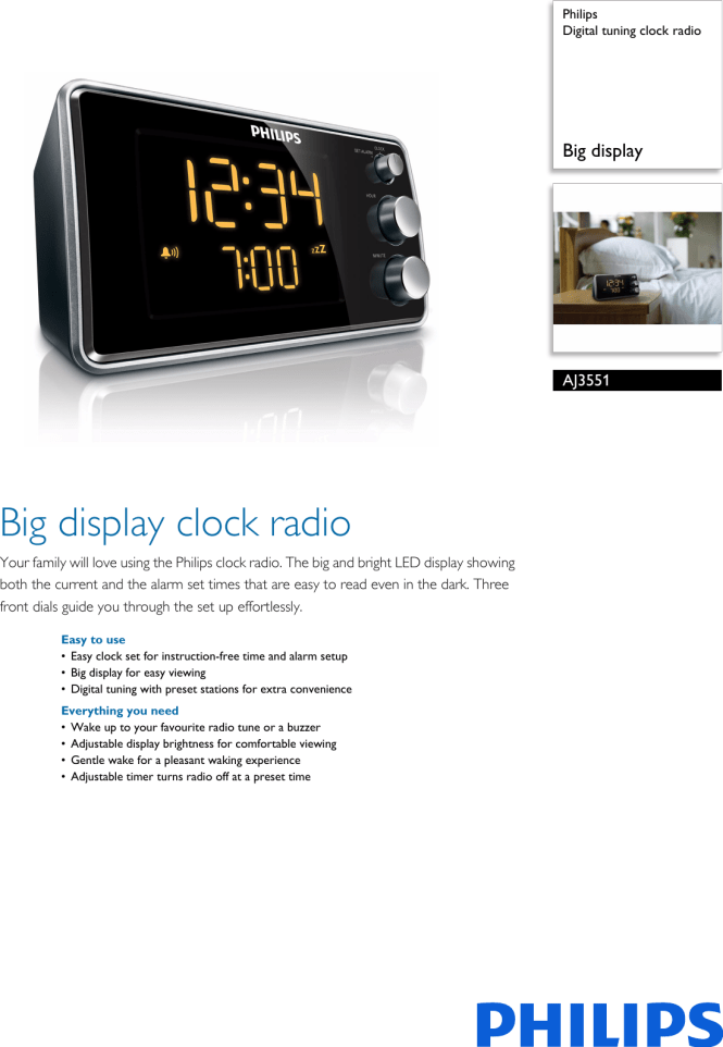 Digital Tuning Clock Radio User Manual