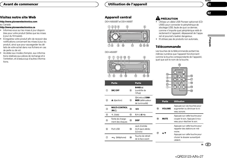 pioneer deh x6500bt problem