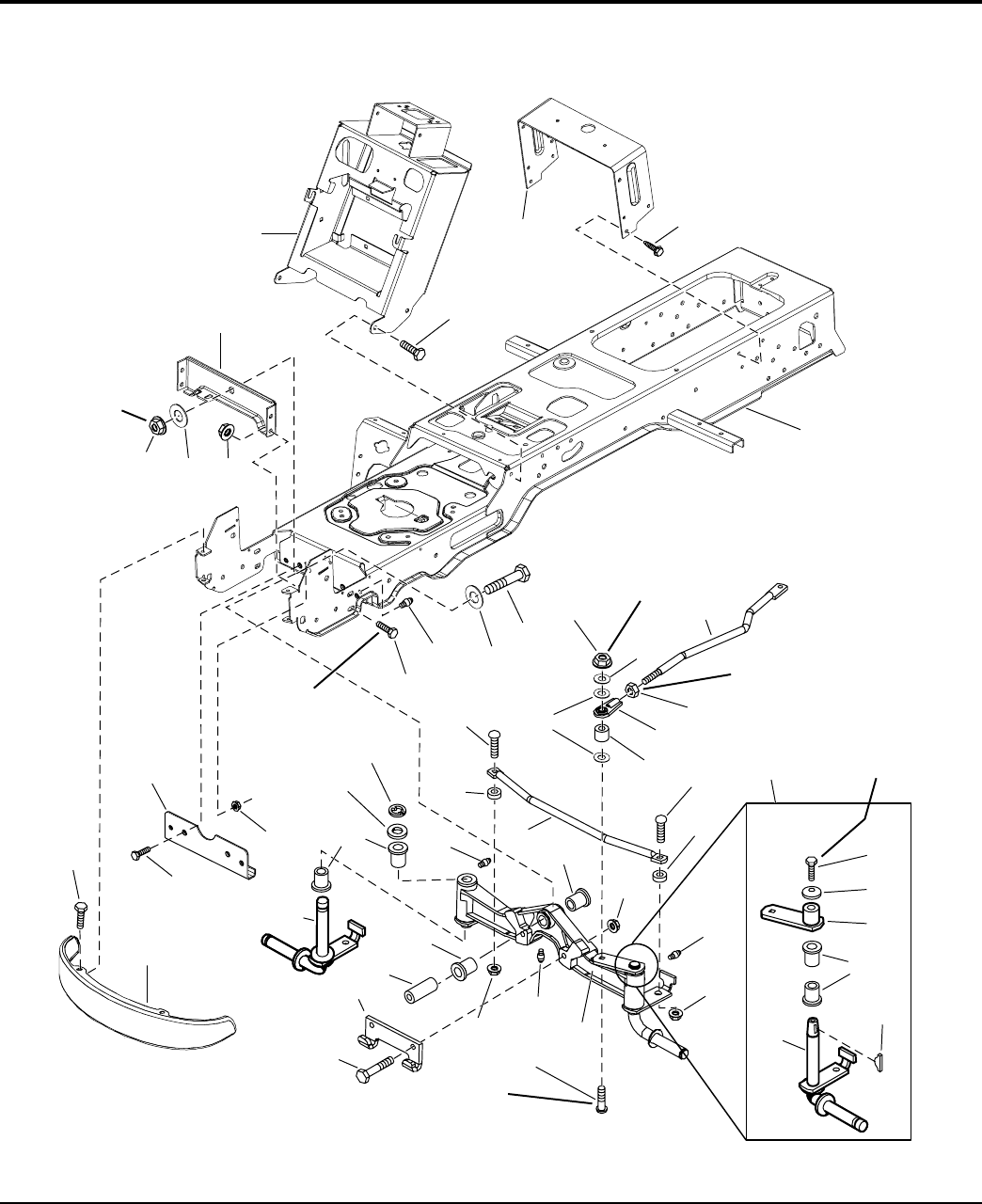 Frame front axle group