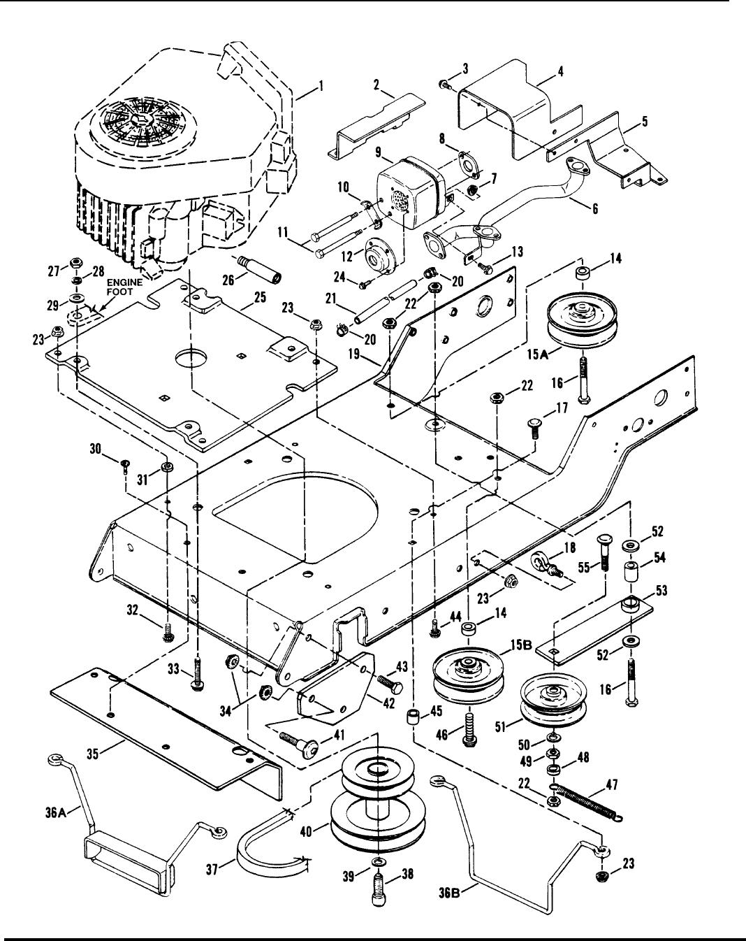 Engine engine base drive ponents briggs engines