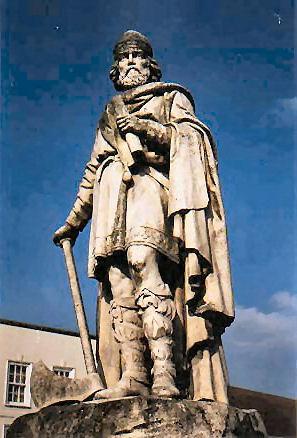 Estátua de Alfredo em Wantage, na Inglaterra