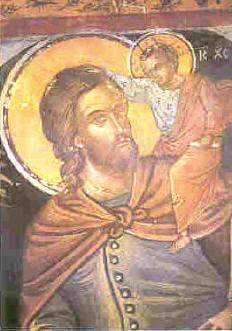 Μ. Αγίου Νικολάου Αναπαυσά. Ο Άγιος Χριστόφορος.
