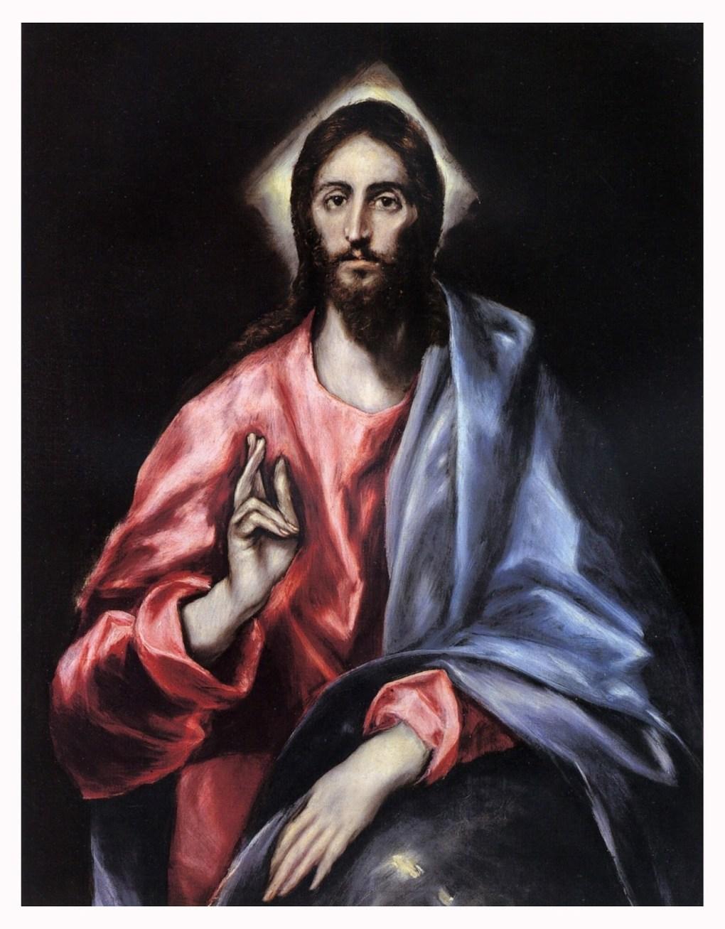 el greco el salvador christ painting