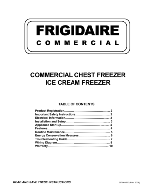 Freezer  Users Guides