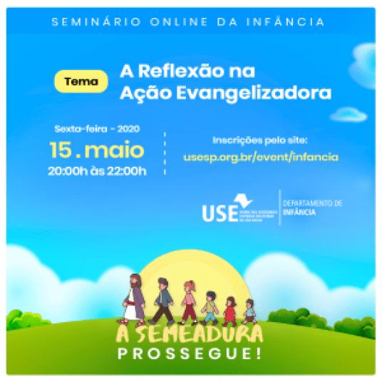 Cartaz Seminário Online da Infância