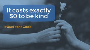 it costs $0 to be kind online