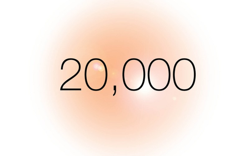 20k - A New Historical All Time High - $20,000