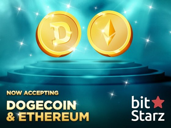 doge800 1 - BitStarz Adds Ethereum (ETH) and Dogecoin (DOGE) Support!