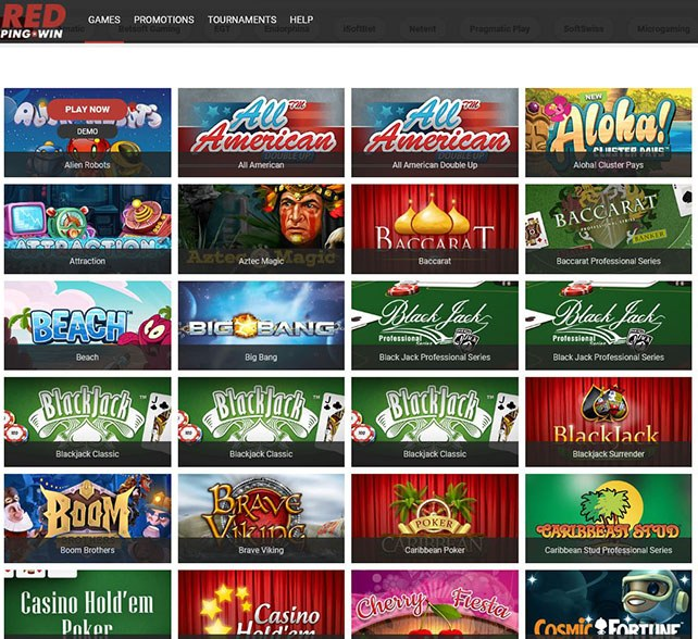 red2 - RedPing.Win Review   Best Online Bitcoin Casino