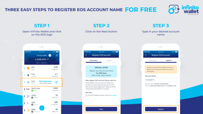 Captura de pantalla 2018 07 09 a las 10.05.15 - FREE EOS Account Name on Infinito Wallet - The first universal wallet supports EOS Mainnet