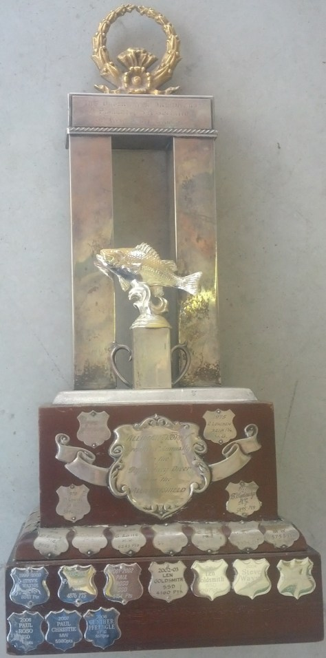 The Curley Alliman Trophy - Presented annually to the top Sydney diver in the Alliman Shield