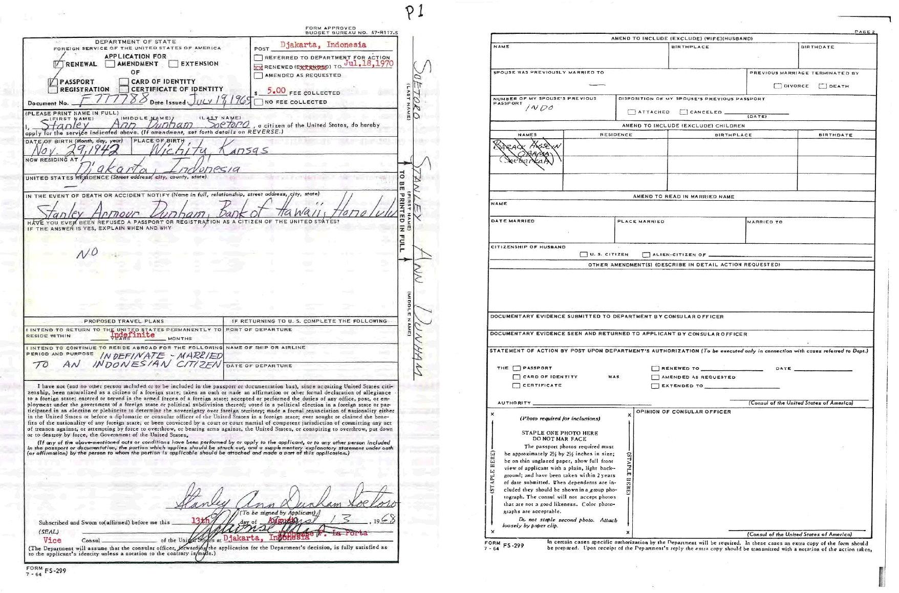 Ann-Dunham-Soetoro-1968-Passport-Renewal-Application