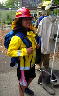 Angelo Zelaya dressed up as a wildland firefighter! Credit: USFWS