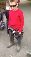 Jack Regan dove into the waders. He couldn't walk far but had fun...! Credit: USFWS