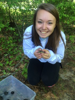 That's me with a Blanding's turtle…so tiny!