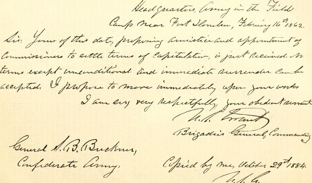 Grant note to Buckner