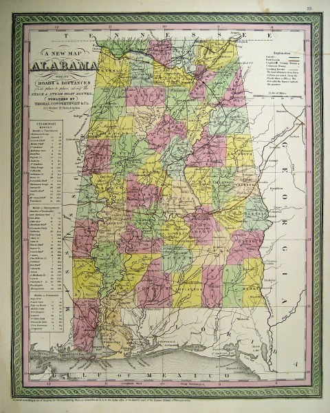 Alabama Maps  Alabama Digital Map Library  Table of Contents  United     State of Alabama Map  1850