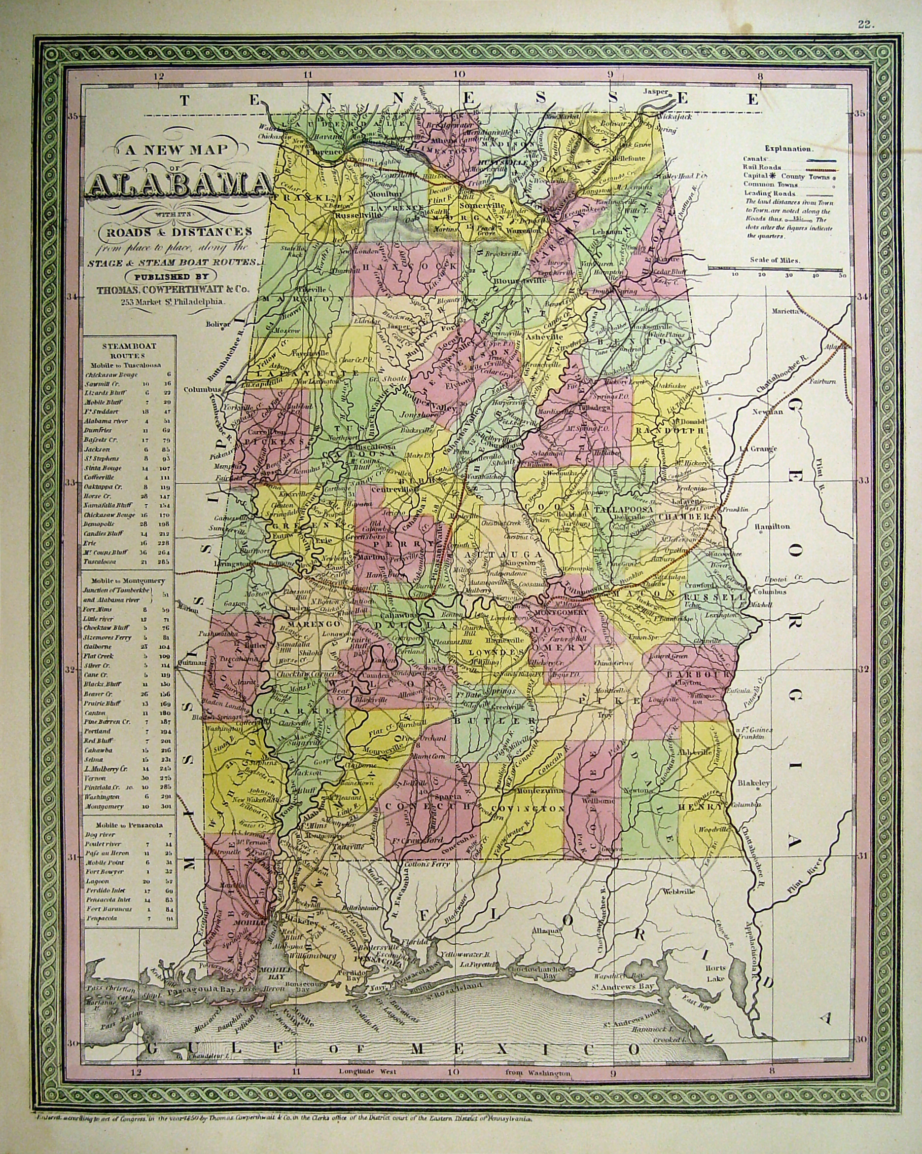Alabama Maps  Alabama Digital Map Library  Table of Contents  United     State of Alabama