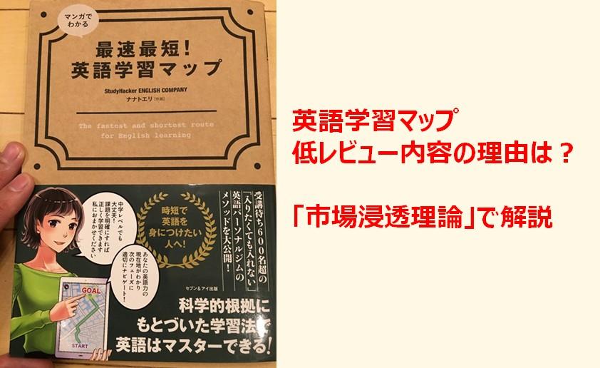 イングリッシュカンパニーの本「マンガでわかる英語学習マップ」が低レビューの理由は?
