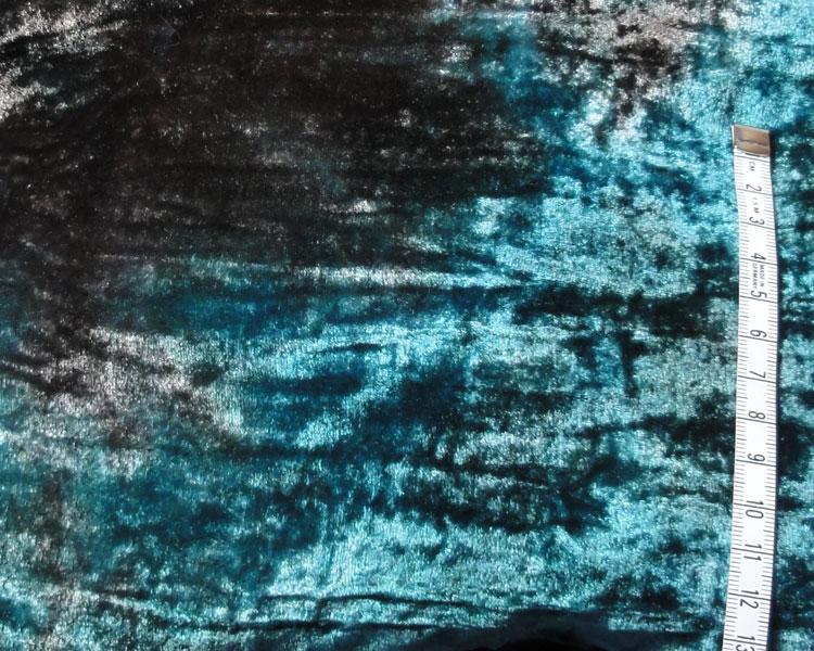 Buidel blauw met zwarte velours
