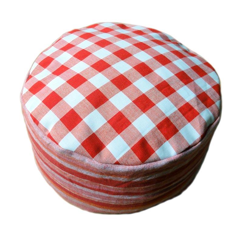 Rood-witte ruit met gestreepte zijkant