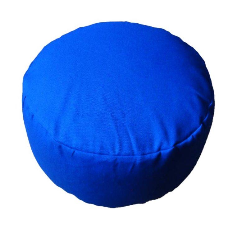 Rond meditatiekussen, kobaltblauw