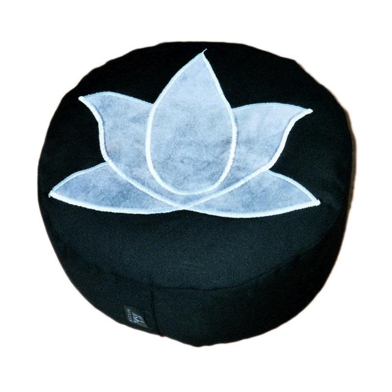 Lotus – Grijs op zwart
