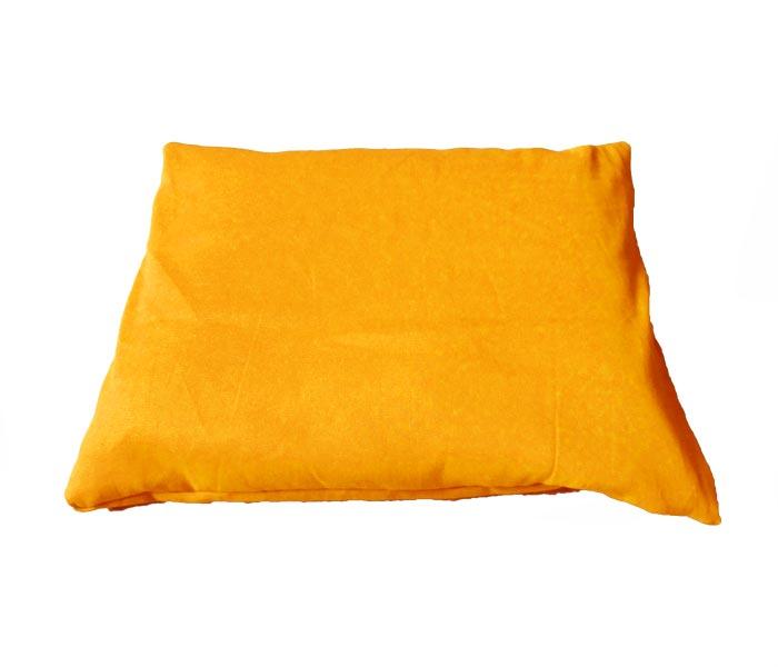 Rechthoekig meditatiekussen, oranjegeel