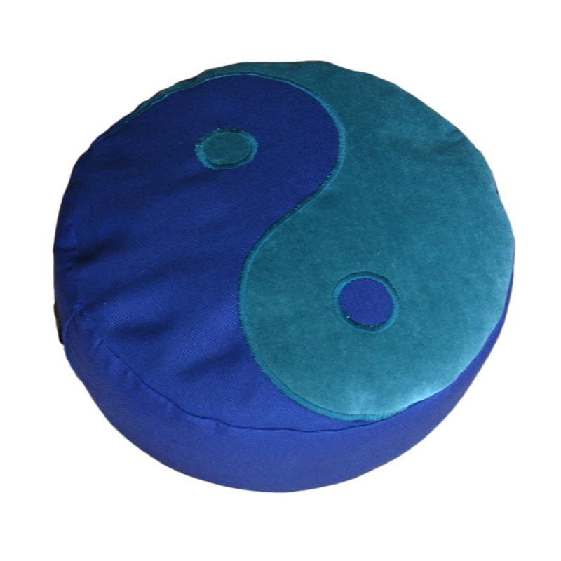Yin Yang – Blauwgroen op donkerblauw