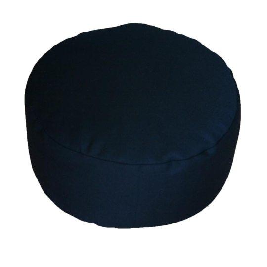 Rond meditatiekussen, zwart