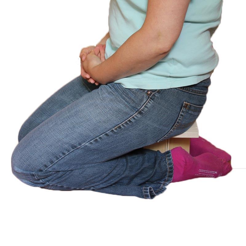 Zitter op meditatiebankje