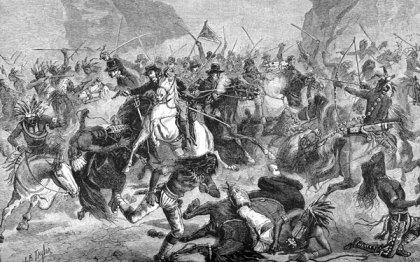 u.s. cavalry charge cheyenne