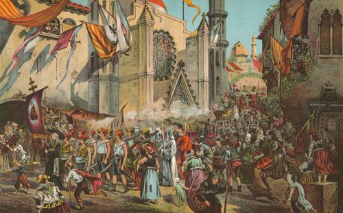 Ferdinand Magellan: La procession en l'honneur de l'expédition de Magellan en quête de terres inconnues