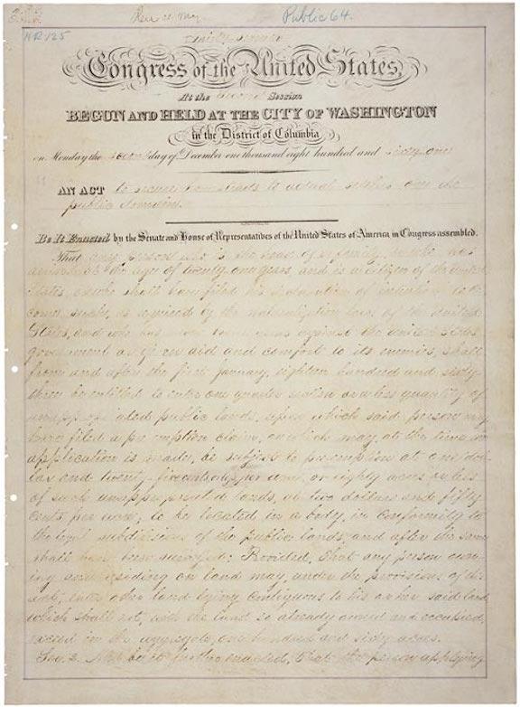 Homestead Act (1862)