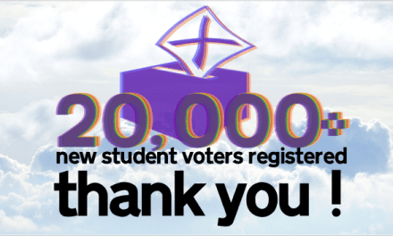 20,000 new student voters registered