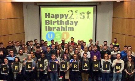 Students Take Action for Ibrahim's Halawa's Immediate Release