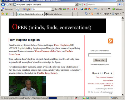 This blog on that blog (Usable Interfaces on Open)