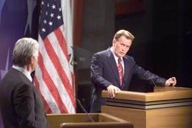 Bartlet vs Richie debate in the WestWing