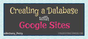 database with Google Sites