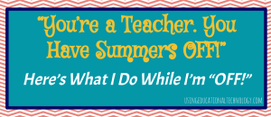 teachers summer