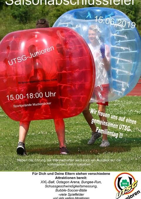 Saisonabschluss der UTSG-Jugendfußballer