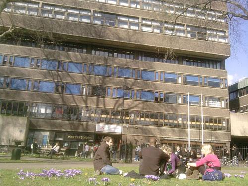 Lunch outside uni