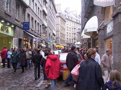 Crowds in St Malo