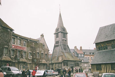 The standalone belfry of St Catherine's