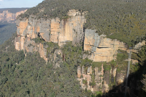 Govett's Leap is the waterfall on the right
