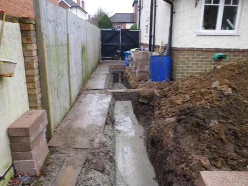 Concrete trench