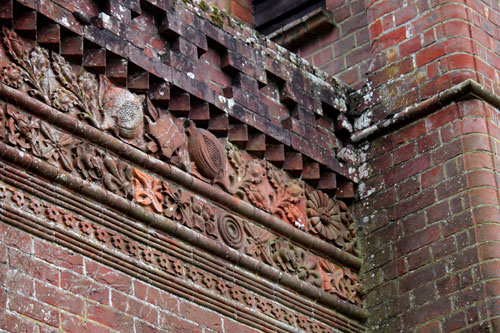 Some of the terracotta work on Massey's Folly